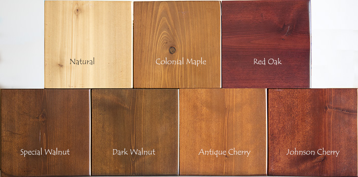 Cedar Stain Color Chart