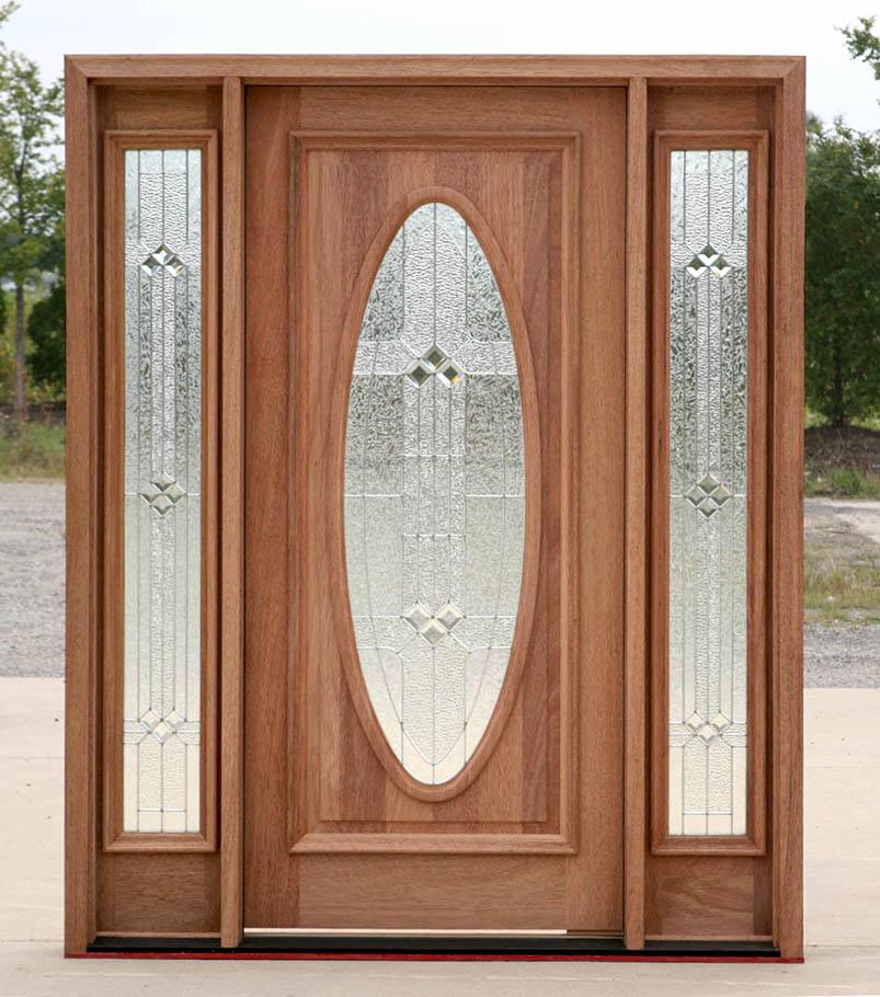International wood trade solid wood mahogany doors for New model front door