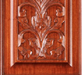 baltic door model with wood carving